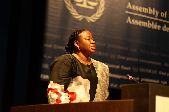 ICC Prosecutor Fatou Bensouda addresses the ICC's Assembly of State Parties, the Hague, November 14, 2012. (Roberta Celi/Flickr)