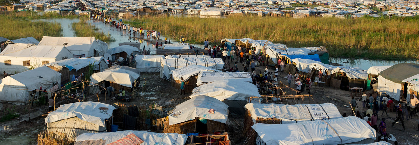 UNMISS' protection of civilians site near Bentiu, South Sudan houses over 40,000 IDPs. August 23, 2014. (UN Photo/JC McIlwaine)