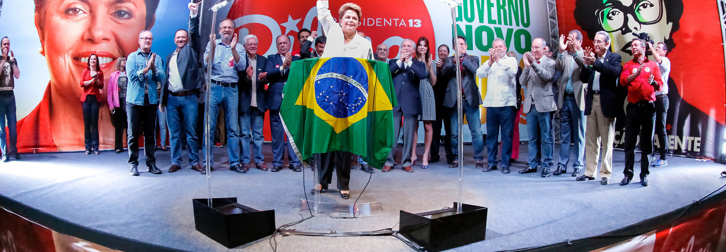 President Dilma Rousseff during the announcement of her re-election. (Ichiro Guerra/Flickr)