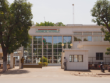 The building of the national assembly of Burkina Faso in downtown Ouagadougou, January 10, 2013. (Wikipedia)