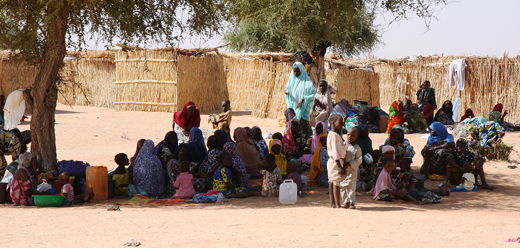 Nigerian refugees in Gagamari camp, Diffa region, Niger. Nigerians massively fled across the border when Boko Haram insurgents attacked the town of Damassak in late November. December 8, 2014. (EC/ECHO/Anouk Delafortrie)