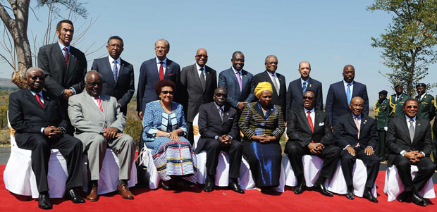 SADC leaders pictured during the 34th SADC Ordinary Summit in Victoria Falls, 17 August, 2014 (Flickr/GCIS/GovernmentZA)