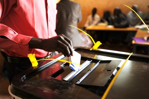First day of voting in Southern Sudan Referndum.