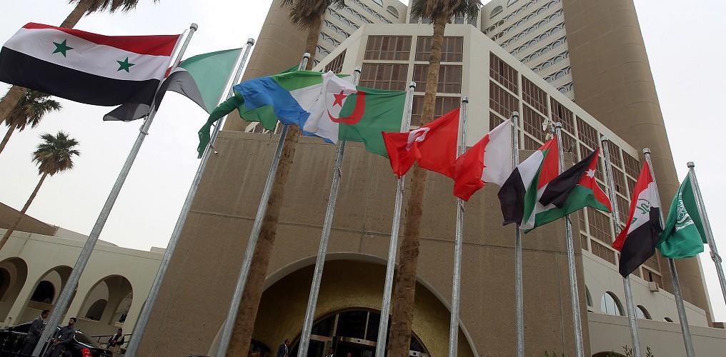 Arab country flags fly in Baghdad ahead of the 2012 Arab League summit. Baghdad, Iraq, March 27, 2012. (Ahmad Al-Rubaye/Pool/epa/Corbis)