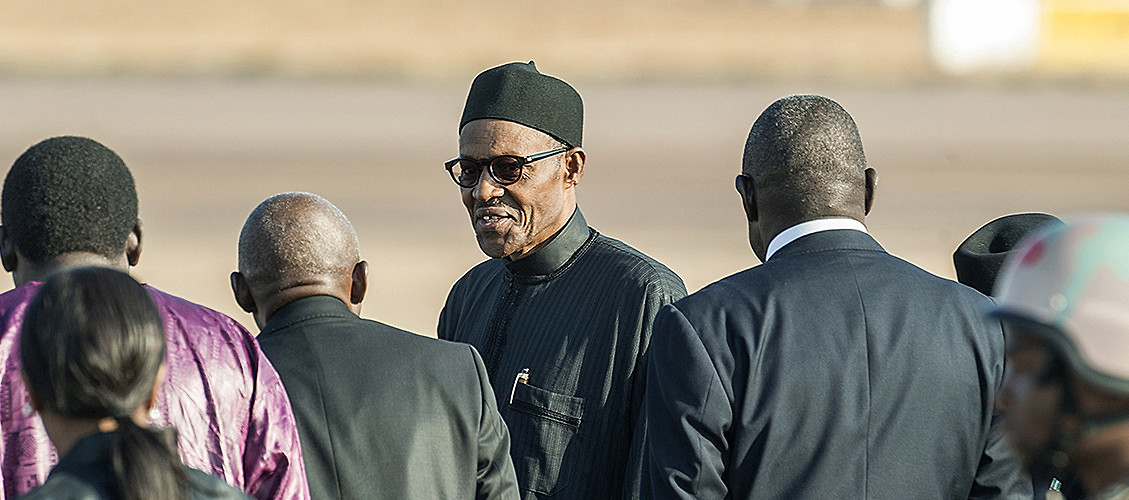 Nigerian President Muhammadu Buhari arrives at the recent African Union Summit, where efforts against Boko Haram were discussed. Johannesburg, South Africa, June 12, 2015. (Mujahid Safodien/AFP/Getty Images)