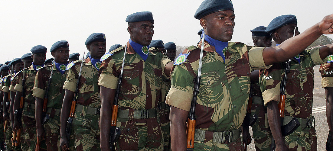 Troops from the Southern African Development Community pictured here will be the main contributors to the African Standby Force's upcoming exercises. Lusaka, South Africa, August 17, 2007. (Alexander Joe/AFP/Getty Images)