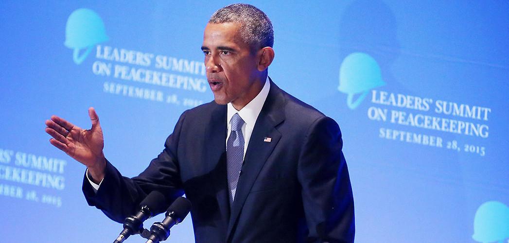 US President Barack Obama addresses the recent high level summit on peacekeeping. New York City, September 28, 2015. (Chip Somodevilla/Getty Images)