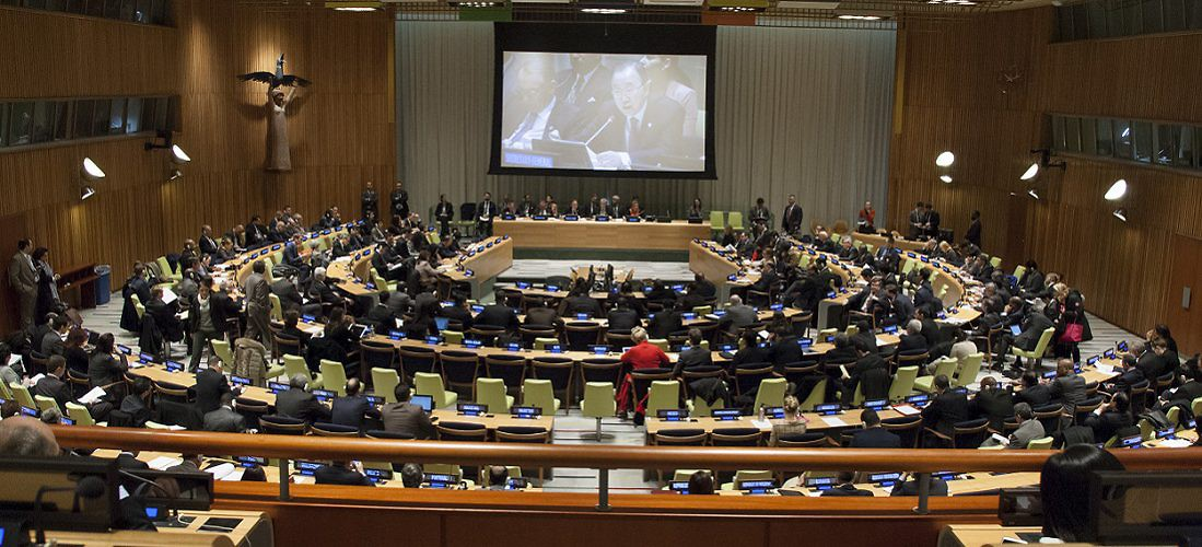 General Assembly Seventieth session: Informal meeting of the plenary, to hear a presentation by the Secretary-General on his plan of action to prevent violent extremism. United Nations, New York, January 15, 2016. (UN Photo)