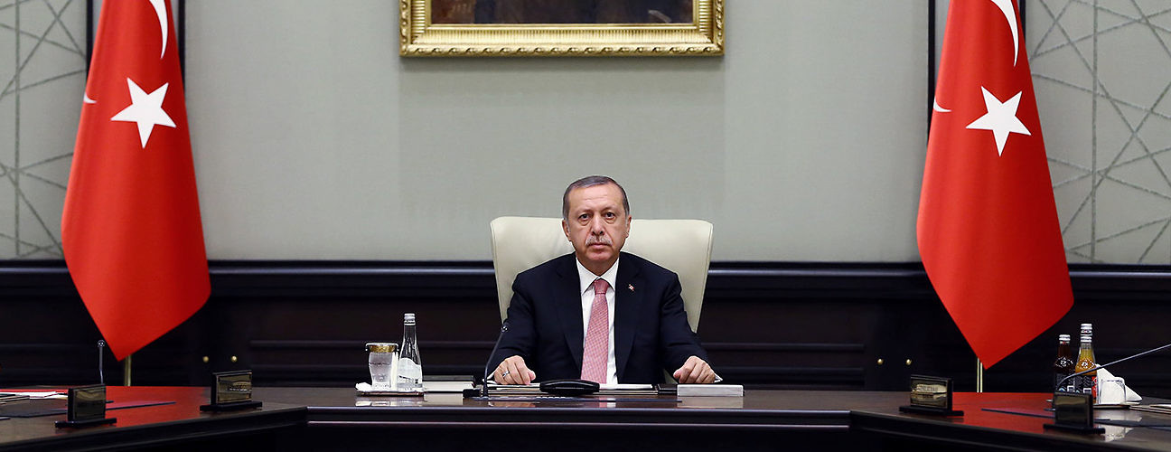 President Recep Tayyip Erdogan heads an emergency meeting of the National Security Council following the July 15 coup attempt. Ankara, Turkey, July 20, 2016 (Kayhan Ozer/Pool/Associated Press)