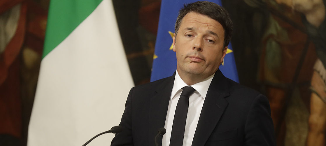 Matteo Renzi announces his resignation following defeat in a referendum on electoral reform. Rome, Italy, December 5, 2016.(Gregorio Borgia/Associated Press)