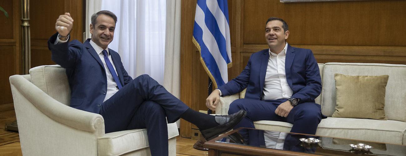 Kyriakos Mitsotakis, Alexis Tsipras