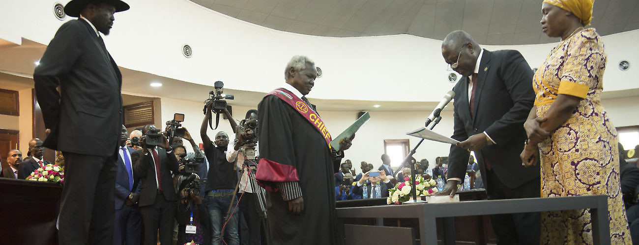Swearing in Machar
