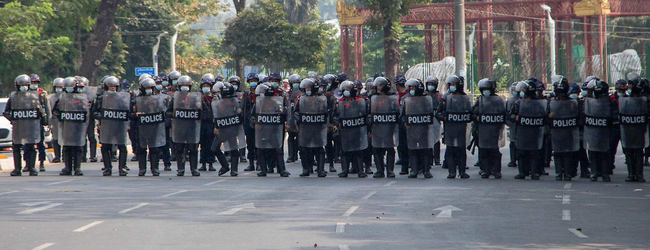 Police officers Yangon