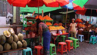 Fruit Vendor Myanmar