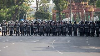Police officers Yangon